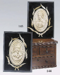 A pair of Dieppe ivory portrai