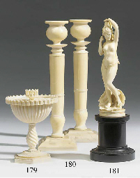 An ornamental ivory turned and