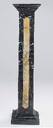 A pair of black marble and var