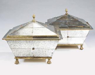 A pair of Italian mirror venee