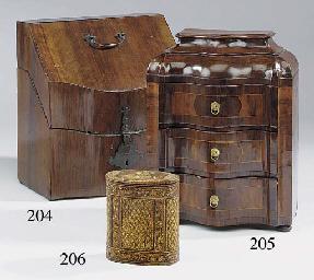 A Dutch miniature walnut venee