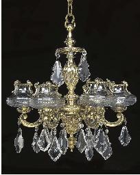 A French polished brass six li