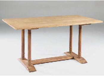 a heals oak dining table, earl