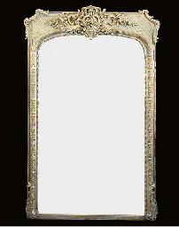A Victorian composition mirror