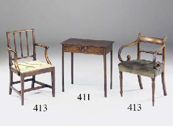 A Regency mahogany open armchair