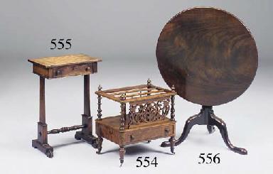 A George IV rosewood games tab