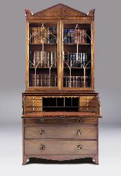 A George III mahogany secretai