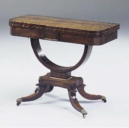 A Regency mahogany card table