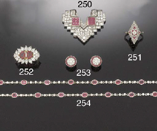 A PAIR OF DIAMOND AND CALIBRÉ