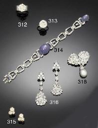 A pair of diamond three stone