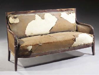 A Restauration mahogany canape