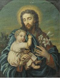 St Joseph with Christ Child