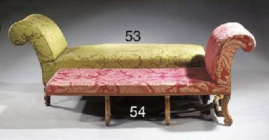A German mahogany chaise longu