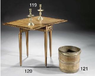 Two Dutch brass candlesticks '