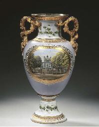 A Copenhagen porcelain topogra