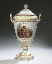 A Berlin KPM porcelain two-han