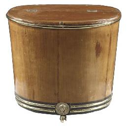 A German brass-banded mahogany