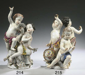 A Meissen-pattern porcelain gr