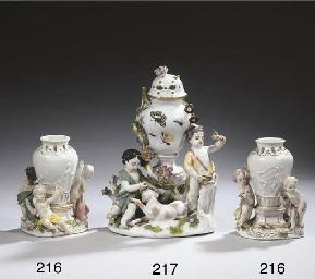 Two Meissen porcelain figural