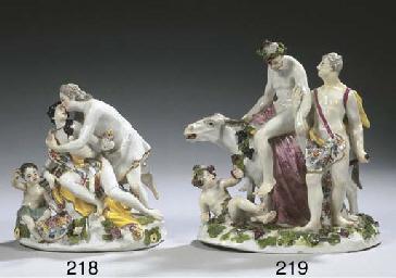 A Meissen porcelain group of J