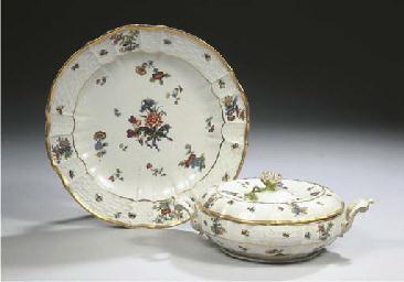 A Meissen porcelain two-handle