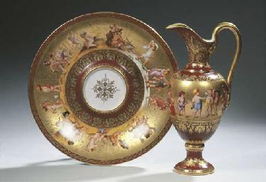 A Vienna porcelain gilt 'Four
