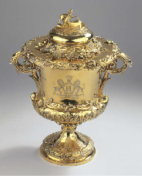 An English silver-gilt cup and
