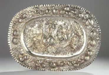 A German large silver dish