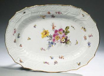 A large Meissen porcelain date