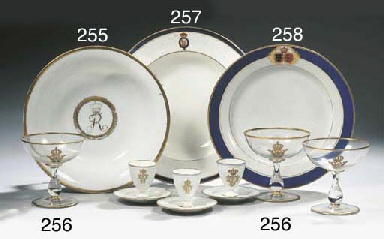 Three imperial armorial glass