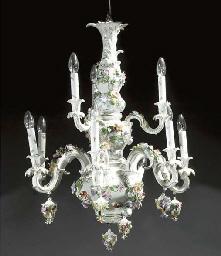 A late German porcelain eight-