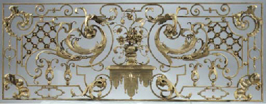A gilded wrought-iron pierced