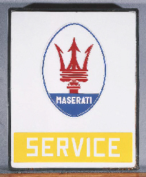 Maserati 'Service' - A large o