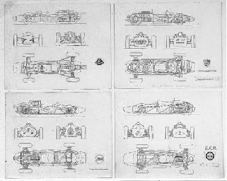 Lotus/BRM/Cooper/Porsche; four
