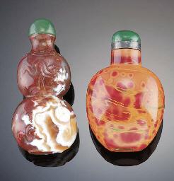 A moss agate snuff bottle 19th
