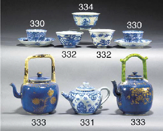 A Chinese blue and white teapo