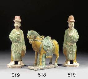 A Chinese glazed pottery model