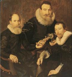 Group portrait of three gentle