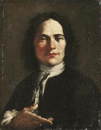 Portrait of an artist, half-le