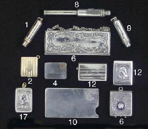 A 14ct gold pocket stamp case