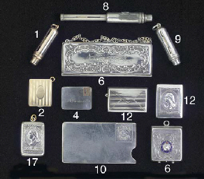 A silver stamp case