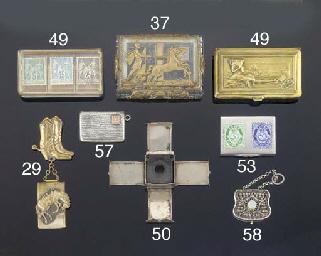 A filigree stamp case