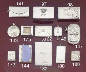 A silver double stamp case