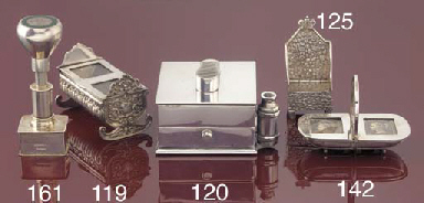 A Victorian double stamp box