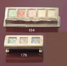 A Victorian triple stamp troug