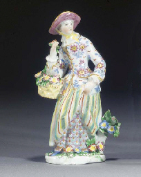 A Bow figure of a lady