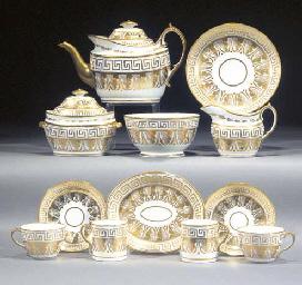 A Herculaneum porcelain tea an