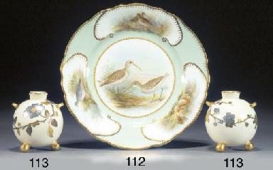 An English bone china ornithol