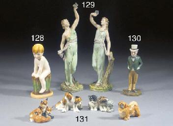 Four Royal Worcester models of
