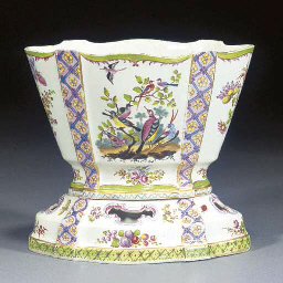 A French faience fine vase hol